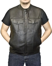 MV320-01 Leather Vest