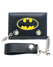 Batman Metal Badge Chain Wallet