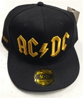 AC/DC Black With Gold Logo Hat