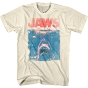Faded Vintage Jaws Movie Poster