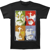 Striped Poster Faces Tee