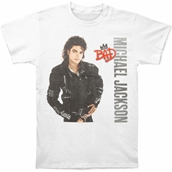 MJ Bad Silver Logo Tee