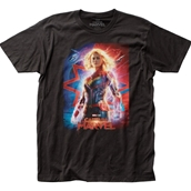 Captain Marvel Poster Tee