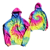 Rainbow Dye Hooded Sweat Shirt