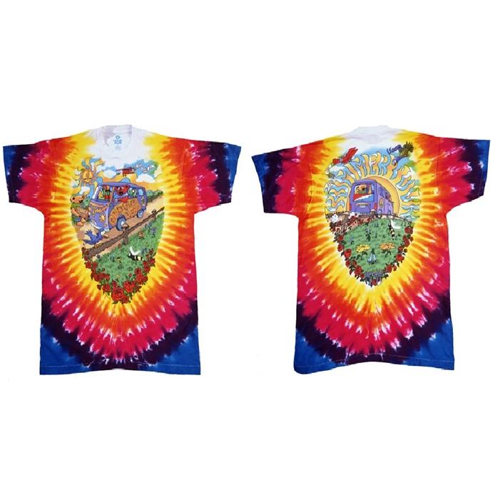 Summer Tour Bus Tee-Grateful Dead Rock Tie Dye T-Shirts