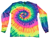 Rainbow Dye Long Sleeve T Shirt