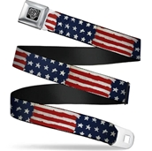 Stars & Stripes Seatbelt Belt