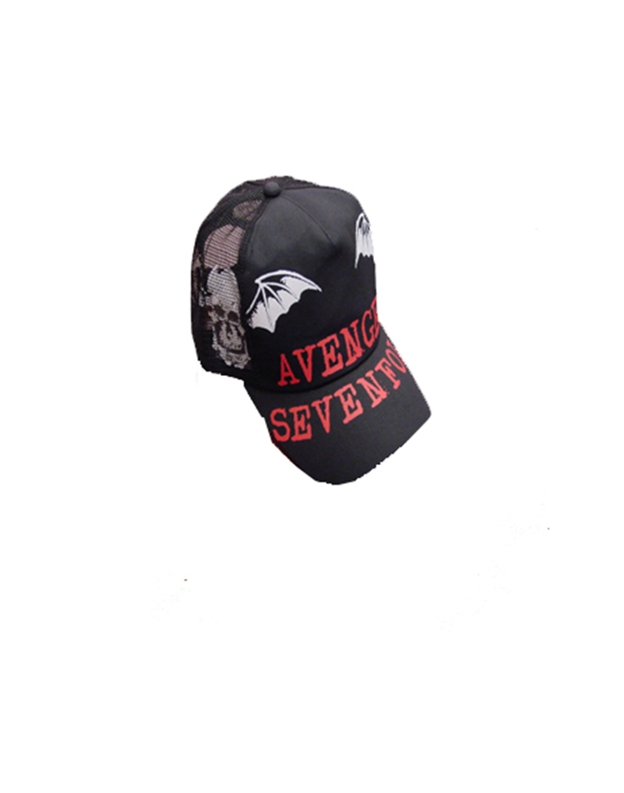adb9ad7e00365 Deathbat Side Trucker Hat- Avenged Sevenfold Trucker Hats ...