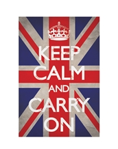 Keep Calm and Carry On Union Jack Poster-Generic Posters