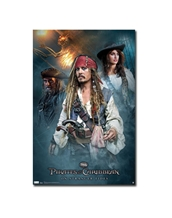 Pirates of the Caribbean 4 Group Poster-Pirates of the Caribbean Movie Posters