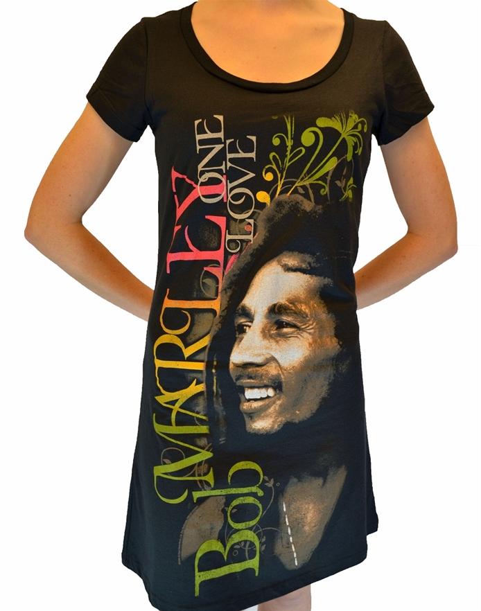 bad8ba69b95 One Love Scoop Neck Dress-Bob Marley Rock Girl Dresses ...