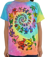 Spiral Bears Youth-Grateful Dead Rock Youth Shirts