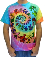 Spiral Bears - Grateful Dead Tie-Dye T-Shirts