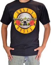 Bullet Logo-Guns N Roses Rock T-Shirts