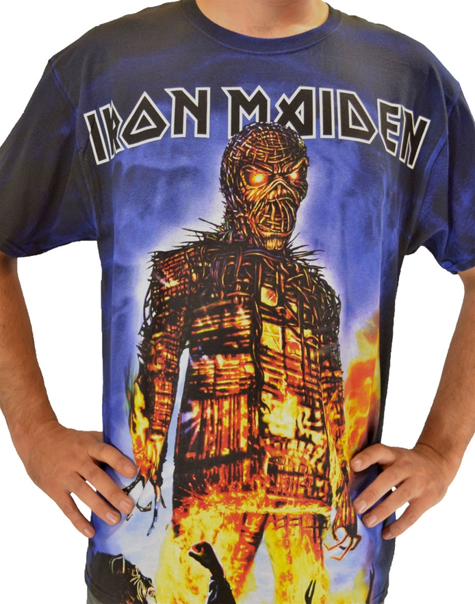 132f7199 Wickerman Allover T-Shirt-Iron Maiden Rock T-Shirts ...