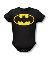 Classic Bat Logo Snapsuit - Batman Baby Rompers