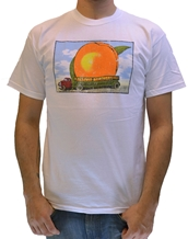 Distressed Eat A Peach-Allman Brothers Band Rock T-Shirts