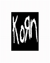 B/W Logo-Korn Large Posters - Textile Poster Flags