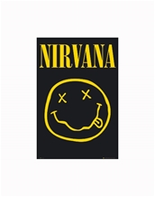 Smiley Face Poster-Nirvana Music Posters