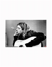 Smoking B/W-Kurt Cobain Music Posters