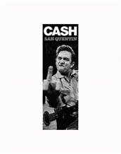 Finger Door Poster-Johnny Cash Music Door Posters