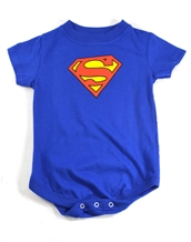 Classic S Logo Snapsuit - Superman Baby Wear