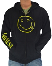 Smile Zip Hoodie-Nirvana Rock Band Hoodies