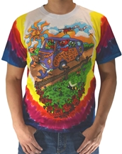 Summer Tour Bus Tee-Grateful Dead Rock Tie Dye T-Shirts