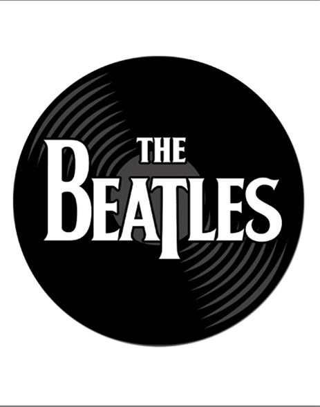 Beatles Record Logo Mouse Pad