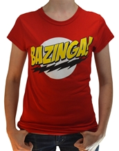 Bazinga! Red Juniors Tee
