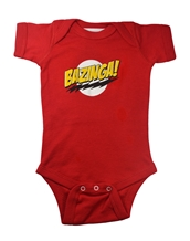 Bazinga! Red Infant Romper
