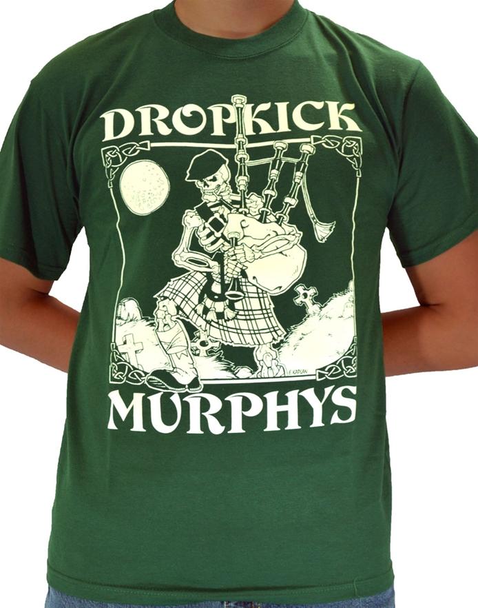 Skeleton Piper Dropkick Murphys Rock T Shirts