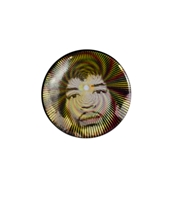Hendrix Psychadelic Face Button