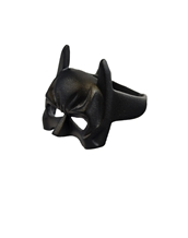 Black Batman Mask Ring