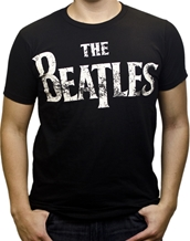 Beatles Distressed Logo - Beatles T-Shirts