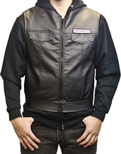 SOA Faux Leather Vest