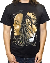 Profiles Black Tee - Bob Marley Reggae Rock T-Shirts